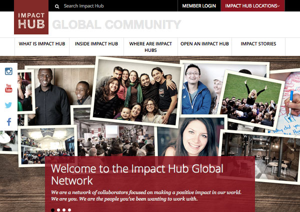 Impact Hub website