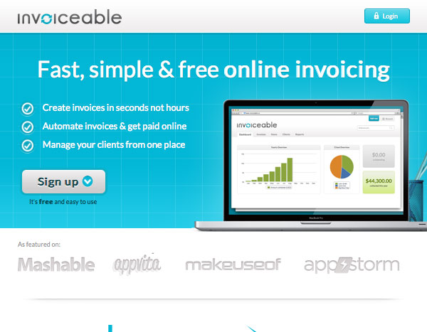 Invoiceable website