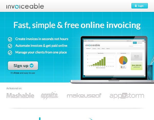 Invoiceable website