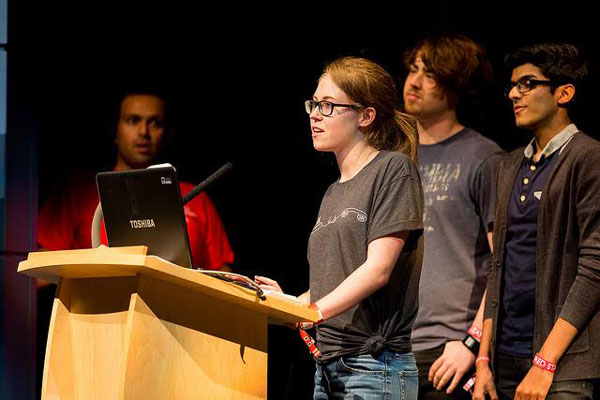 Young Rewired States Festival of Code - young woman on stage