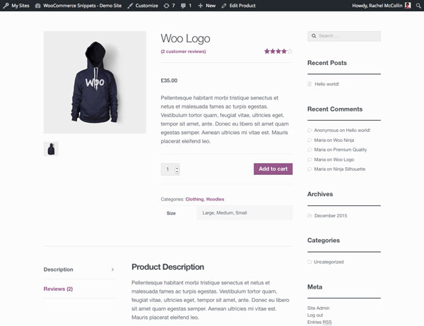 How to make woocommerce product attributes more prominent for Table tag attributes in html