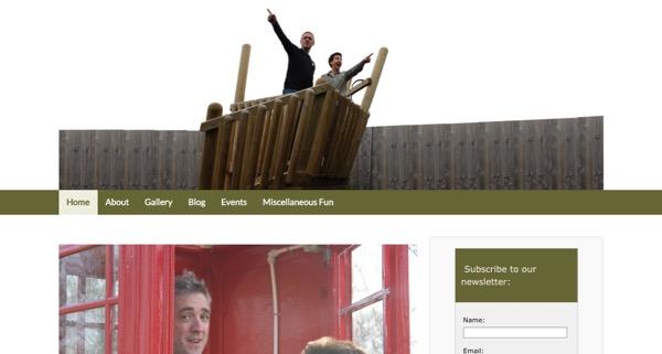 site with header image before slider added