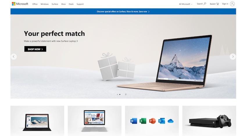 Microsoft desktop site