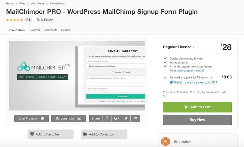 mailchimper pro plugin