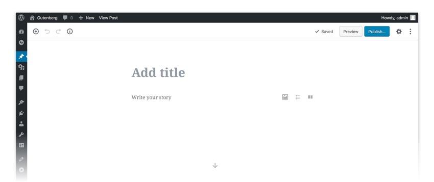 The Gutenberg block editing interface