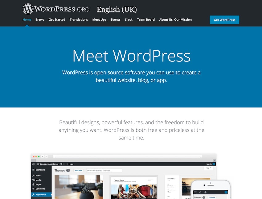 wordpressorg website