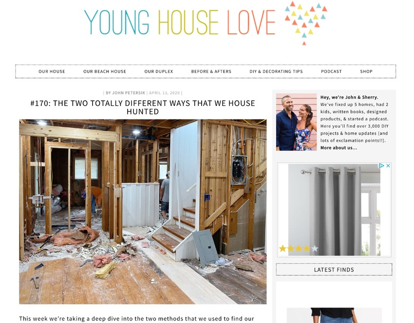 Young House Love website