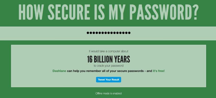 how secure is my password website