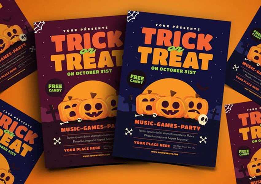 Trick or Treat Halloween Event Flyer