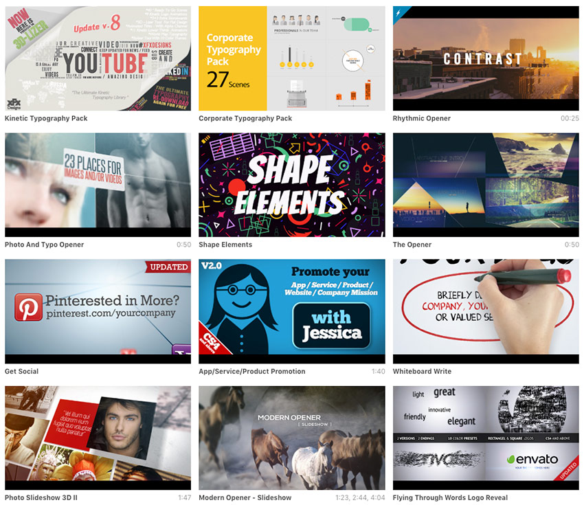 Best Creative Adobe After Effects Video Intro Templates for 2020 available for sale on Envato Market