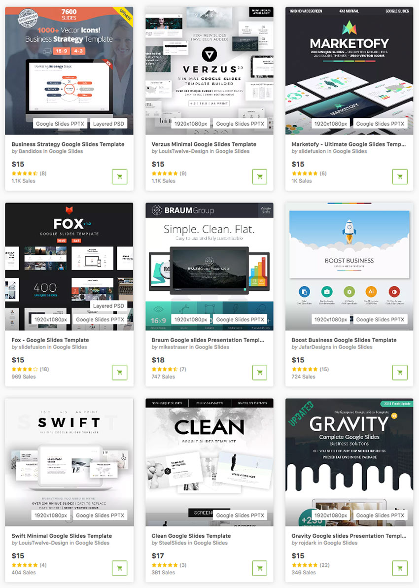Best Google Slides Themes on GraphicRiver