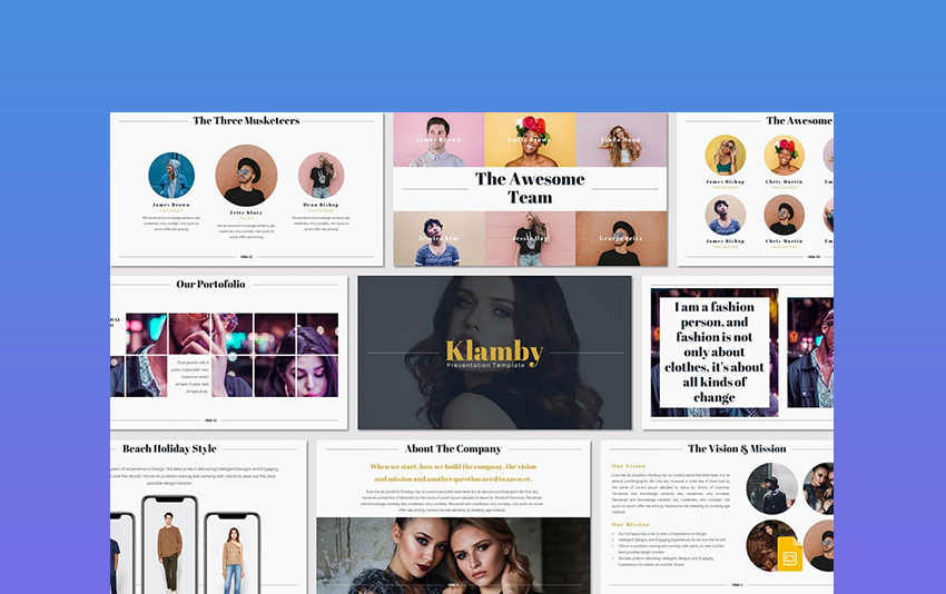 Klamby Google Slides Themes