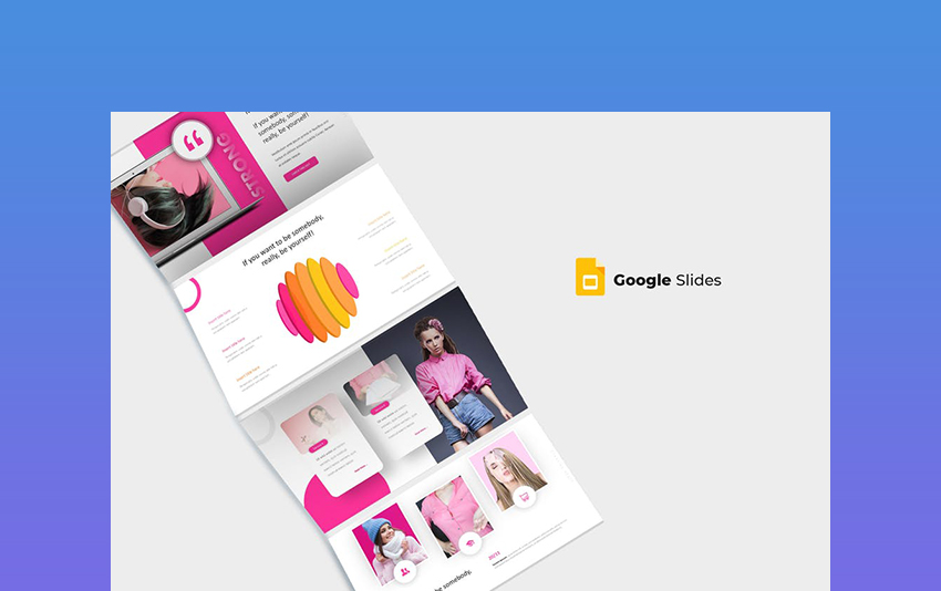 Stronger a Bold Theme for Google Slides