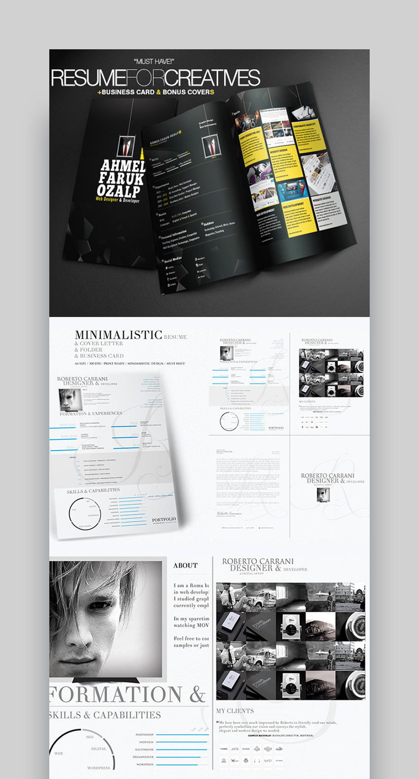 25+ Creative Infographic Resume Templates (Designs for 2019)