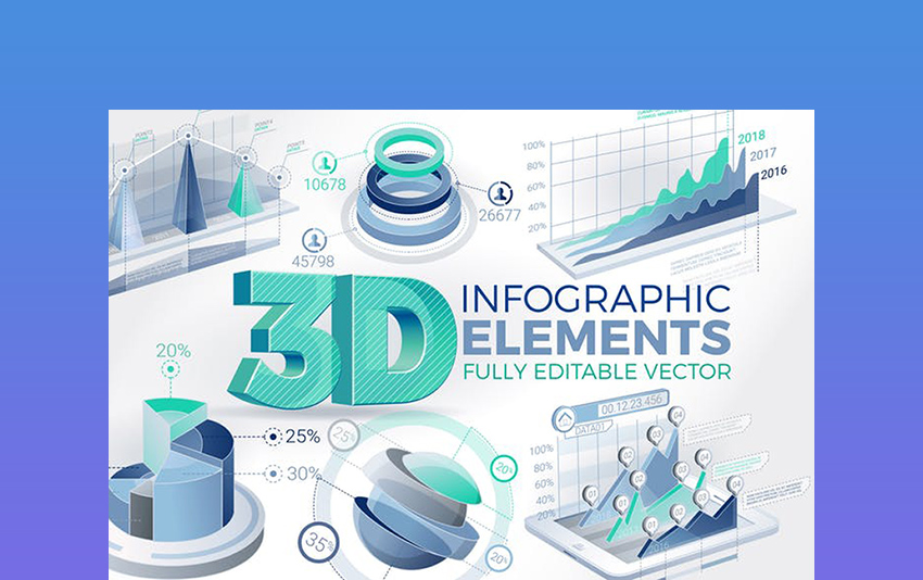 3D Corporate Infographic Elements