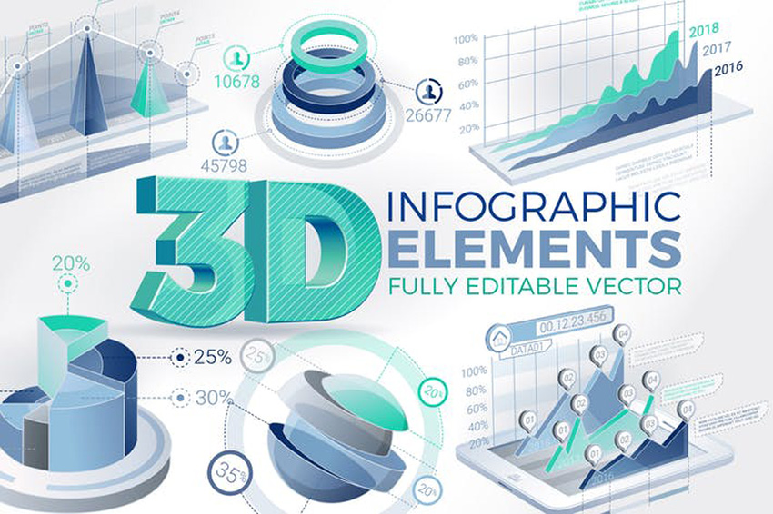 3D Infographic Design Inspiration