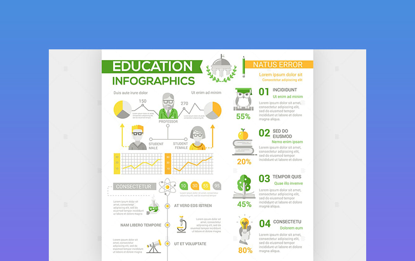 Education - Flat Design Poster Style Infographic