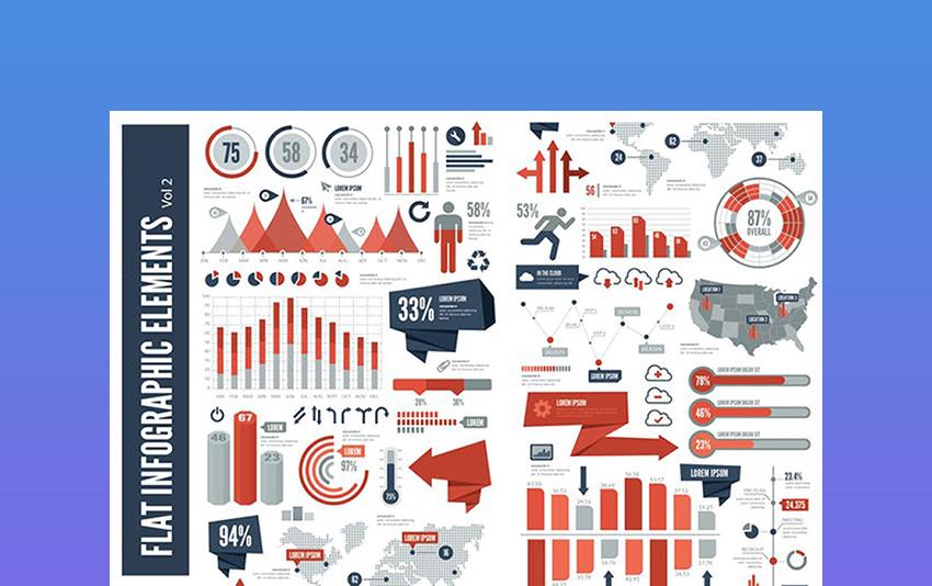 Flat Vector Infographic Elements Vol 2