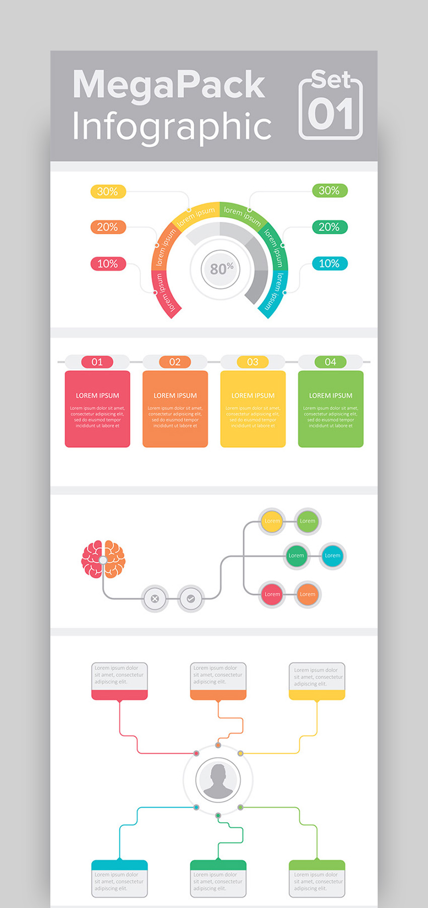 MegaPack Infographic Template Set 01