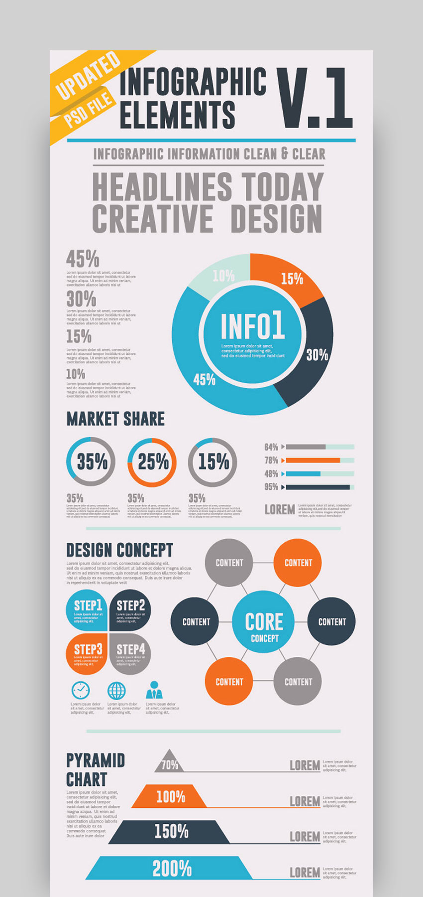 Infographic Template Elements V1