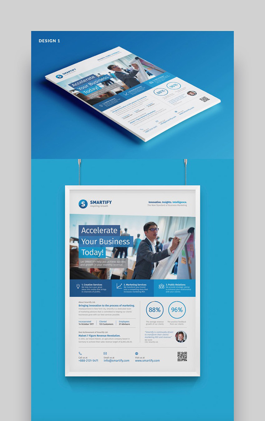 4-Design Corporate Marketing Flyer Information Template