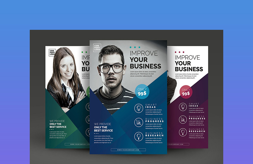 20 business flyer templates with creative layout designs