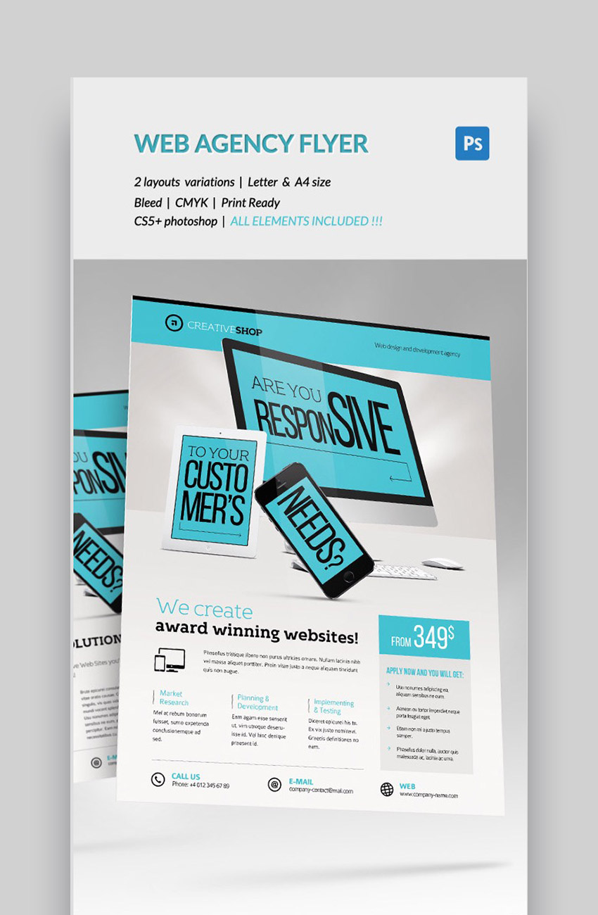 Creative Web Design - Professional Agency Flyer