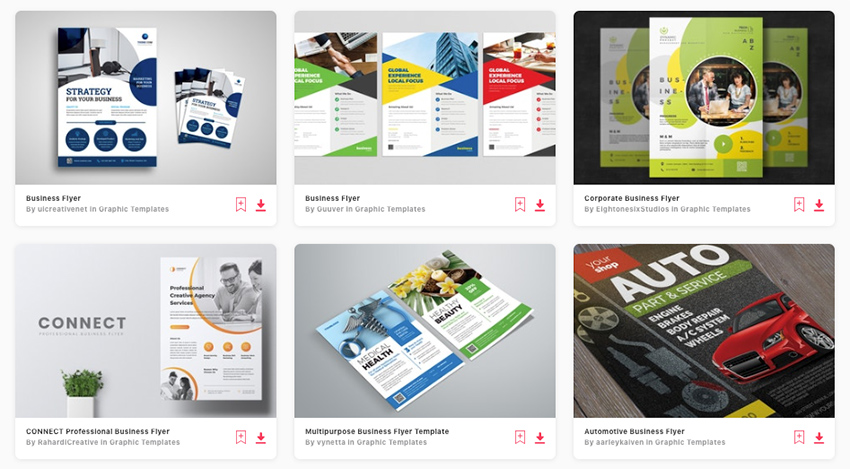 Best flyer design templates on Envato Elements 2020