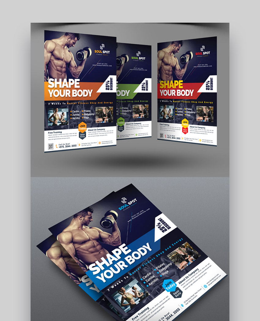 Fitness Gym Specific Ideas For Business Flyers