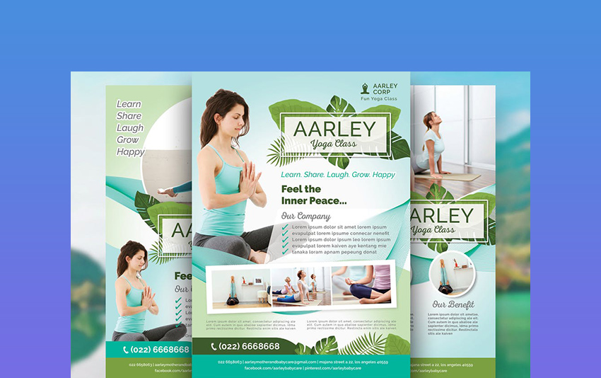 Yoga - Example of Flyer Templates
