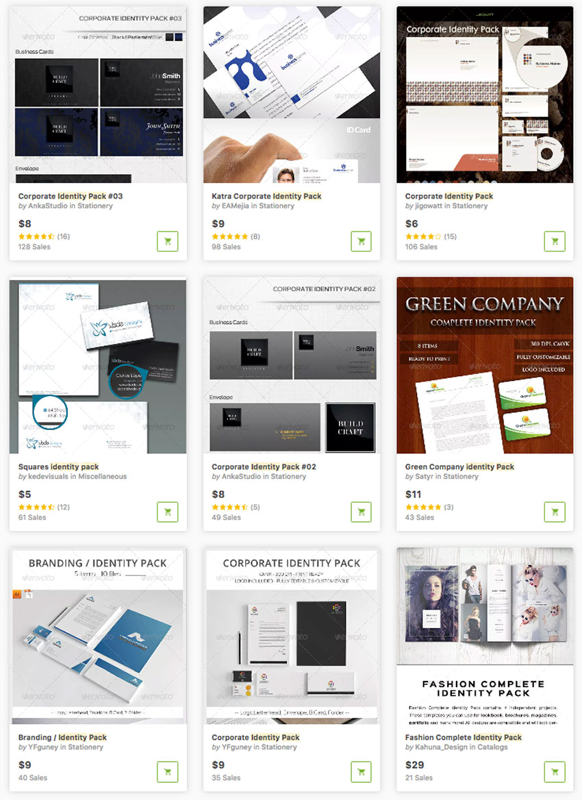 Identity Package Design Templates available for sale on Envato Market