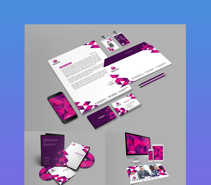Interactive Corporate Branding Identity Package