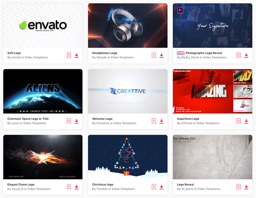 Best Video Logo Animation Templates on Envato Elements 2019