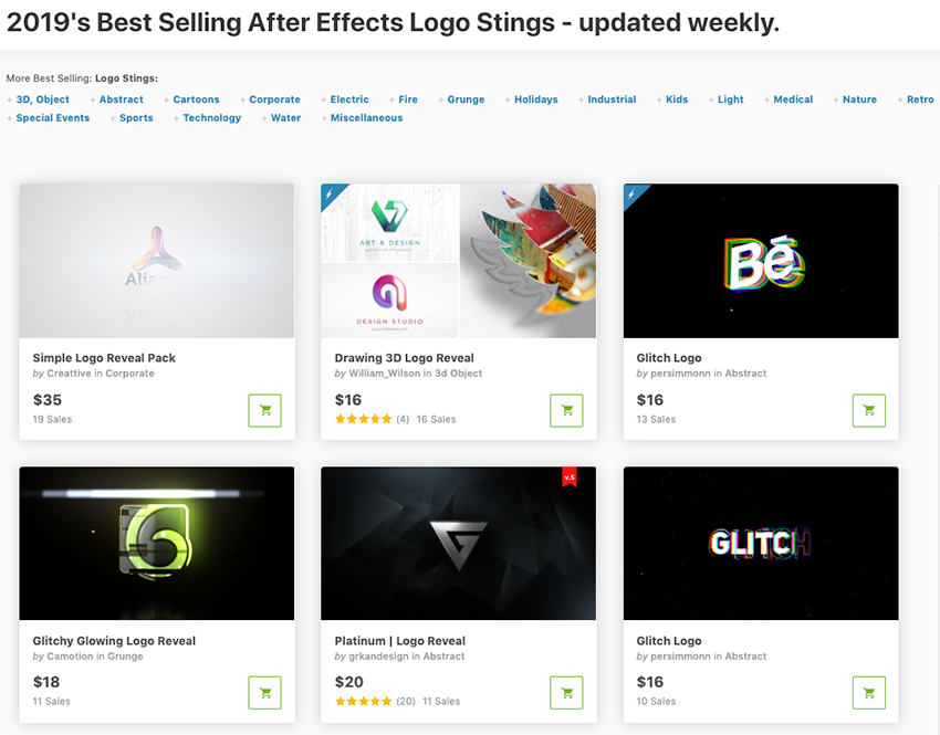 Best logo animation in After Effects templates on VideoHive 2019