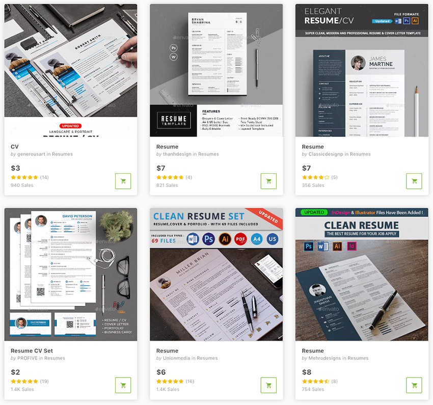 Best Creative Business Resume Templates For 2019 Available Sale On Envato Market