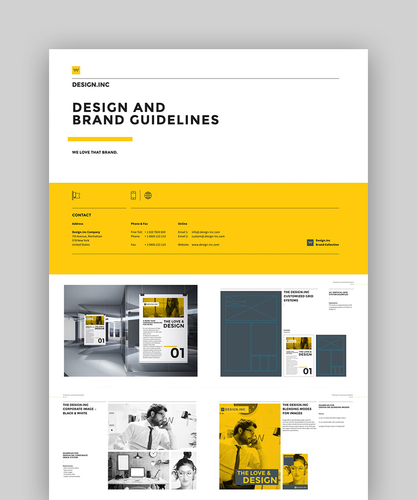 Brand Manual and Identity InDesign Template