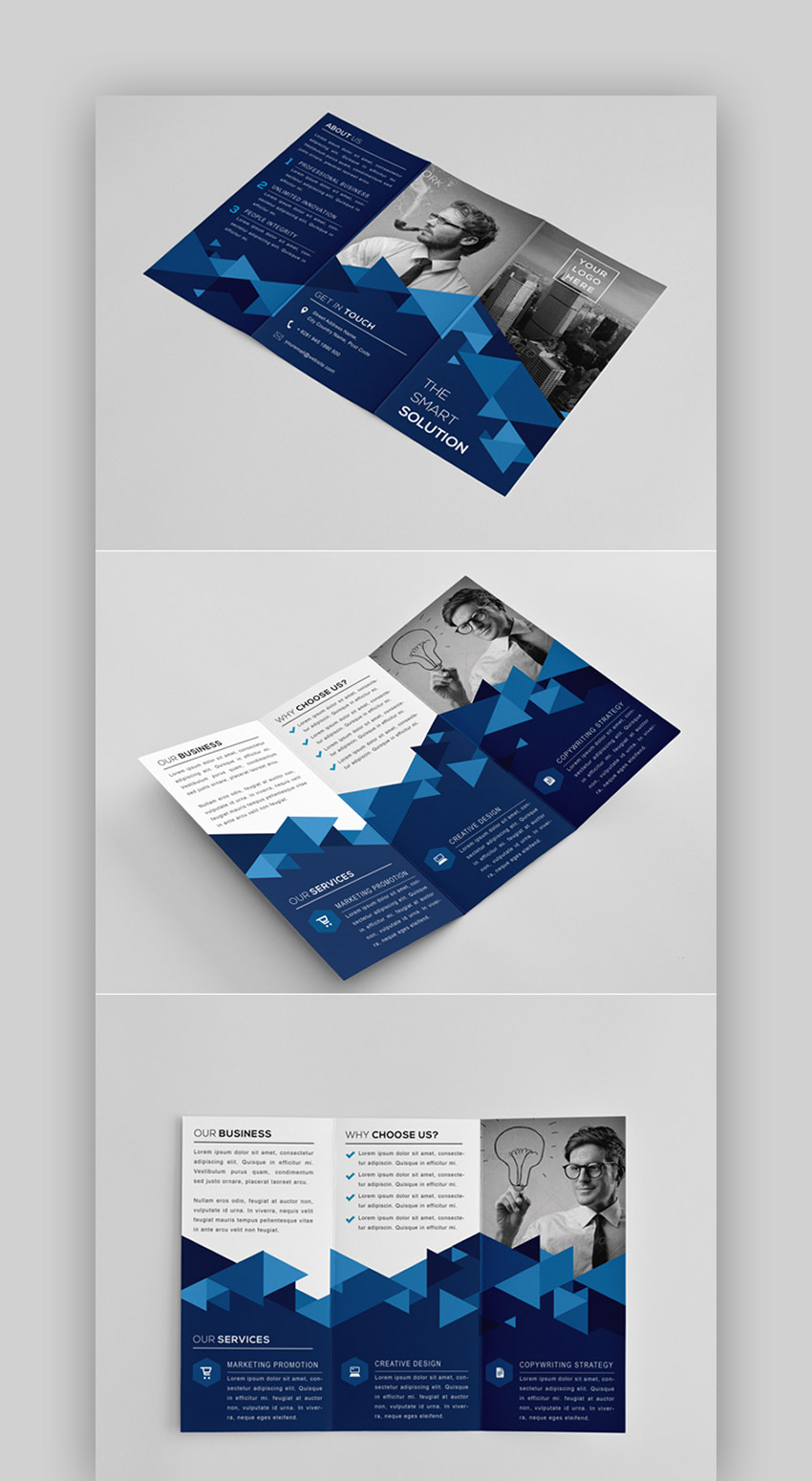 The Modern Tri Fold Brochure Template InDesign