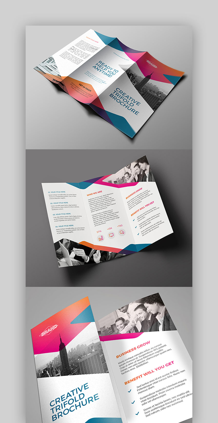 Tri Fold - InDesign Leaflet Template