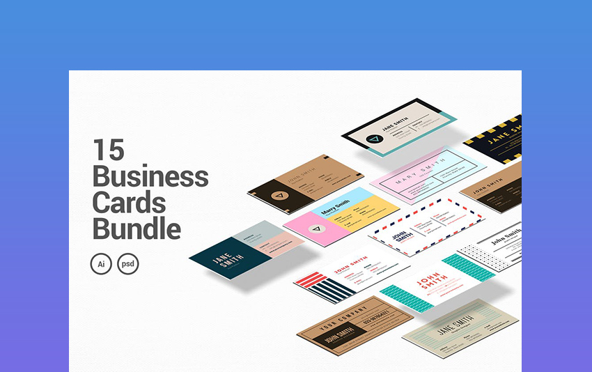 15 Business Cards Bundle Most Innovative Business Cards