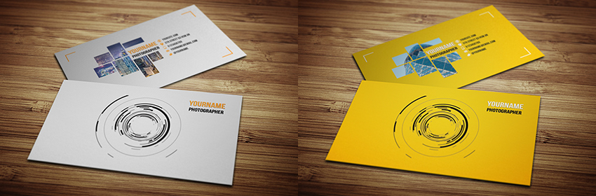 Modern Photography Style Creative Business Card Template