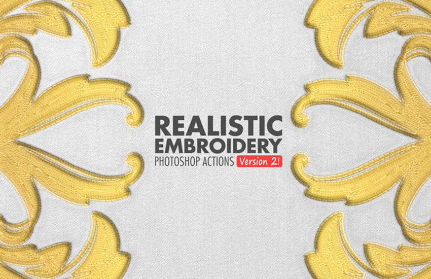 Realistic Embroidery 2 - Photoshop Actions