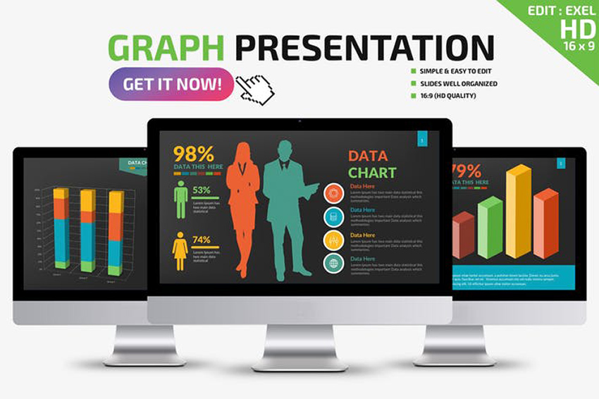 Fully Animated Graph Infographics Powerpoint Presentation