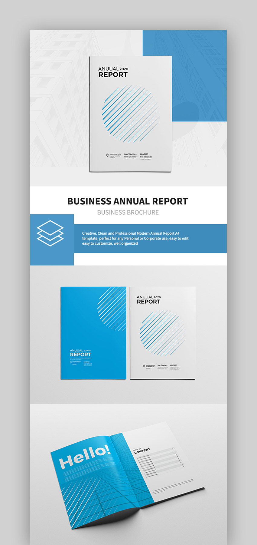 25 Best Annual Report Templates With Creative Indesign