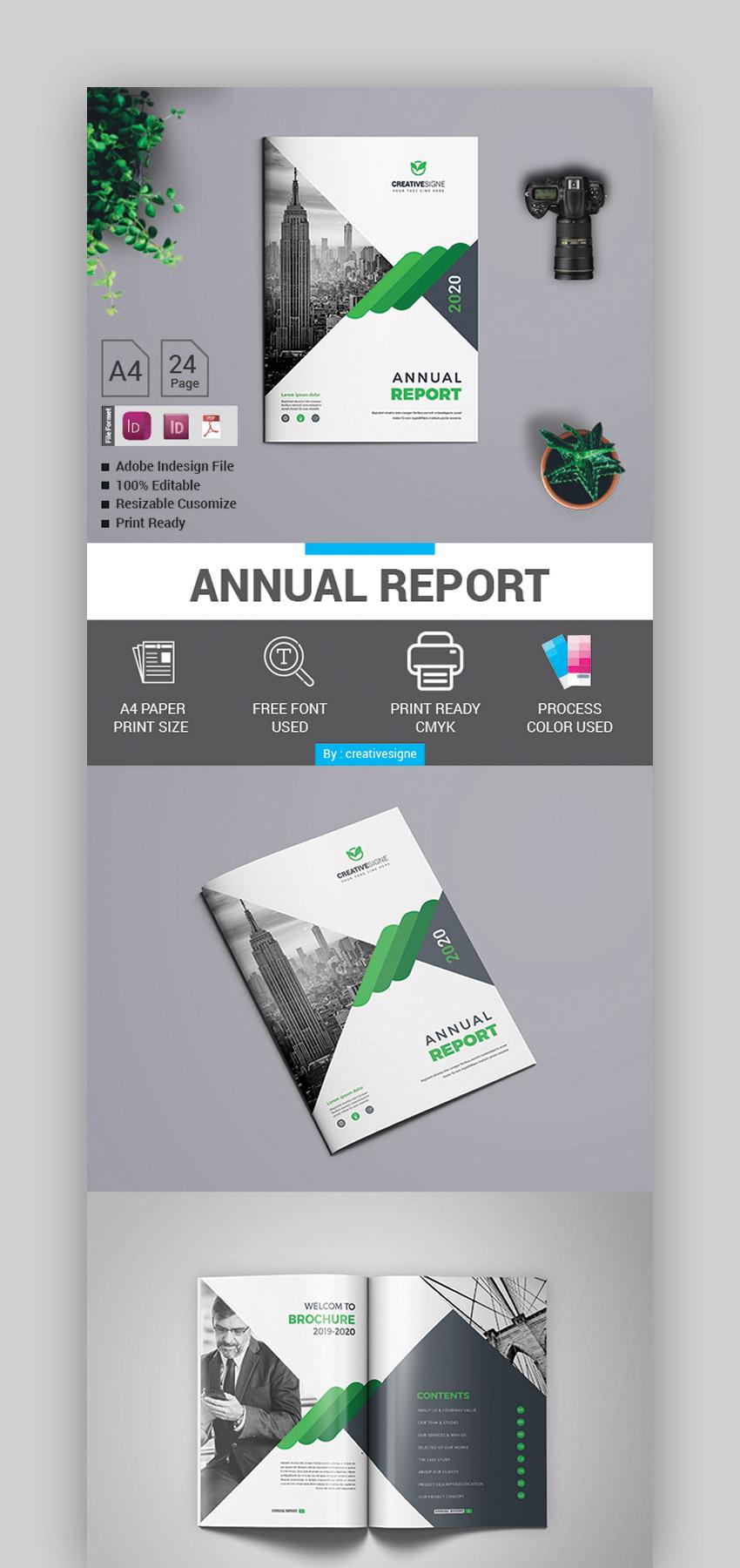 Plantilla con diseo de reporte anual