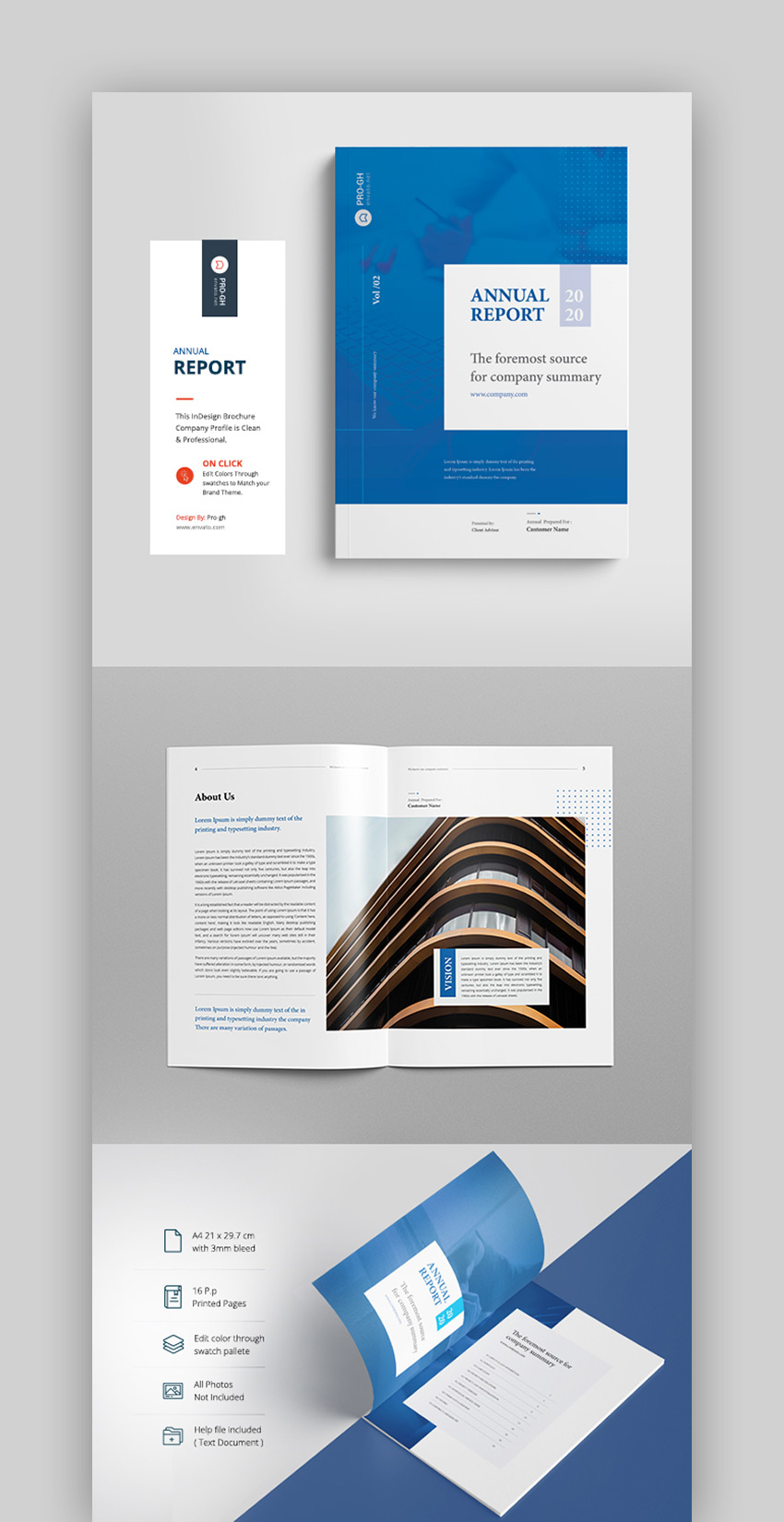 Professional 2020 Annual Report Template Design