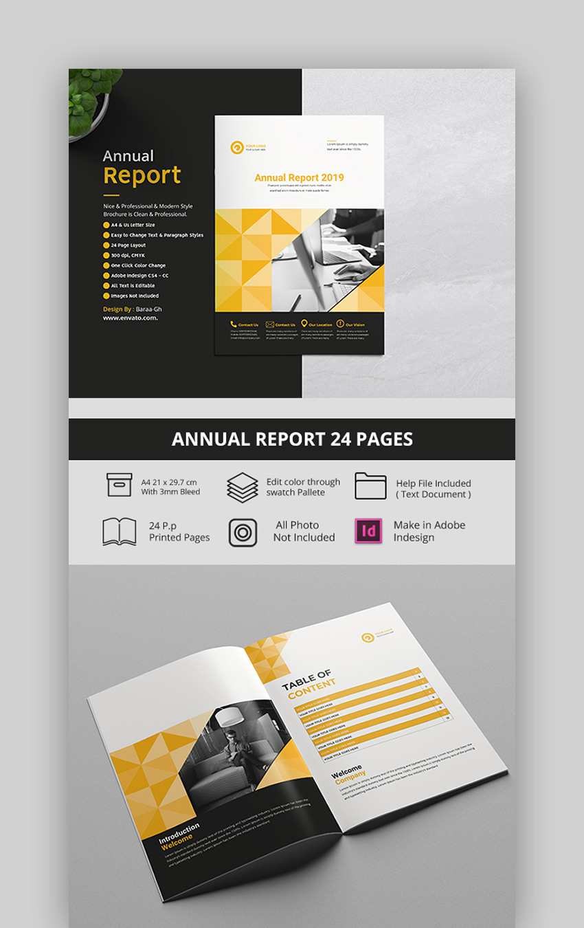 Geometric Design - Annual Report Template