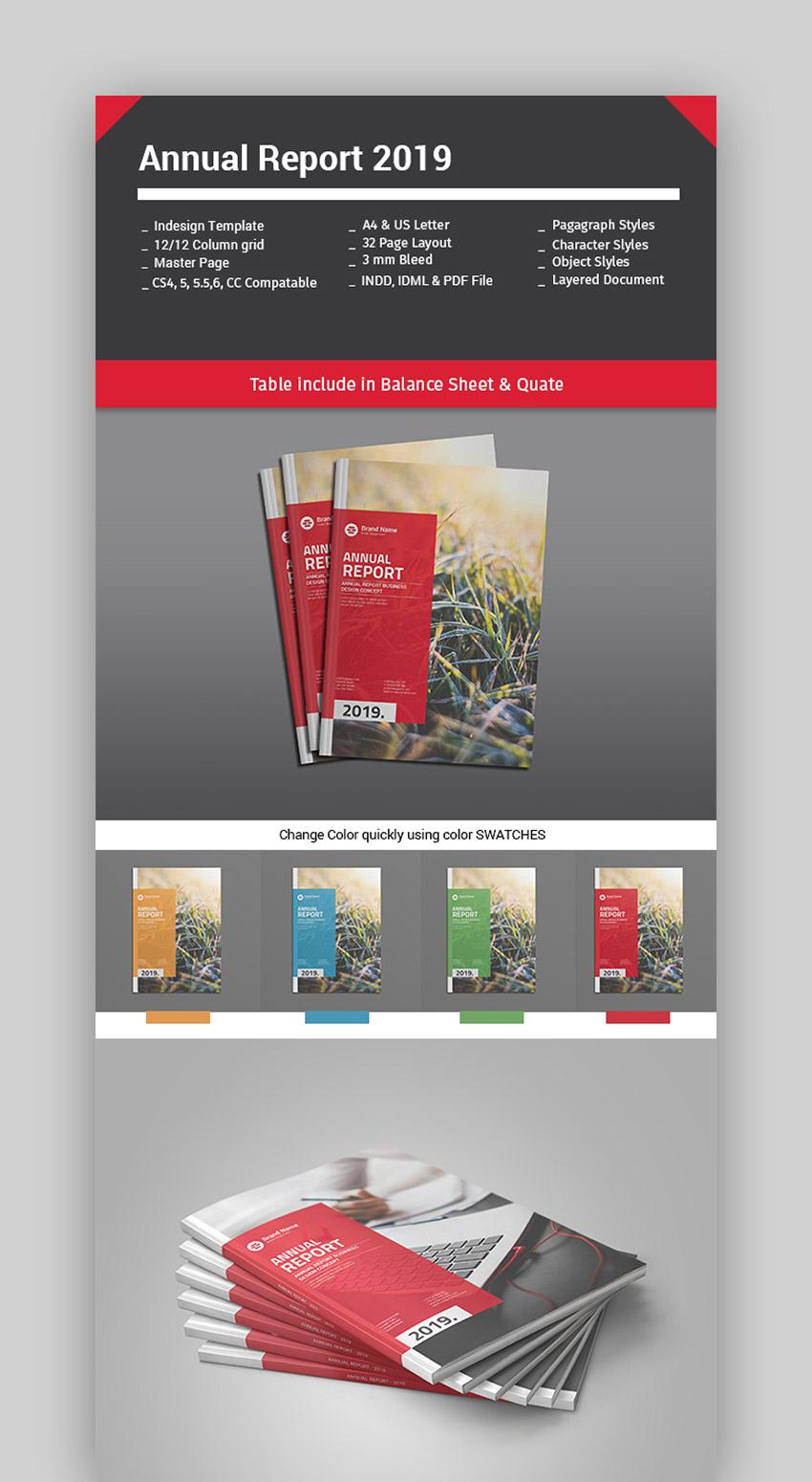 Plantilla de informe anual moderno