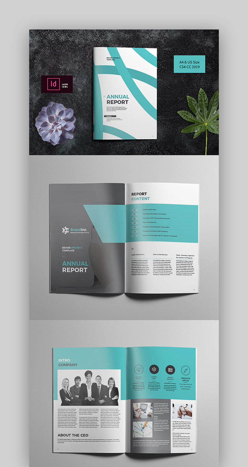 Creative Lines - Annual Report Template