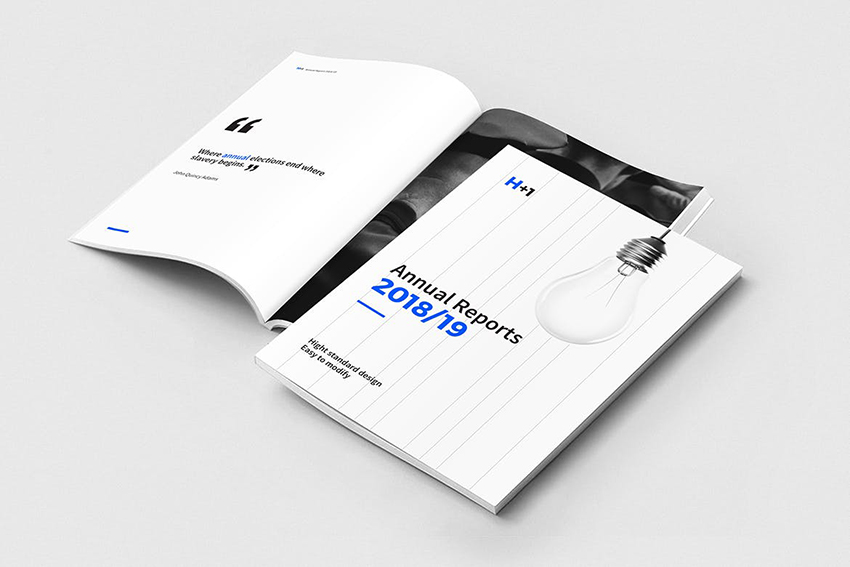Minimalistic Annual Report Design Template