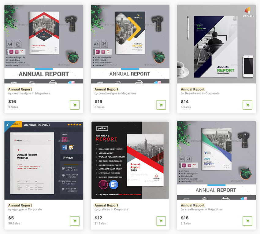 Best annual report design templates on GraphicRiver 2019